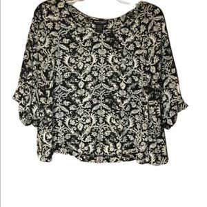 ABOUT A GIRL black and white top Size S